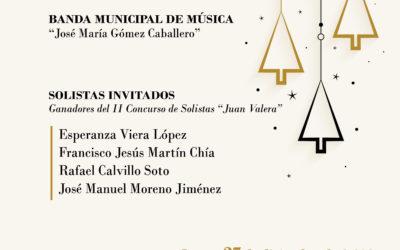 Concierto de Navidad de la Banda Municipal de Música junto a los ganadores del II Concurso de Solistas «Juan Valera»