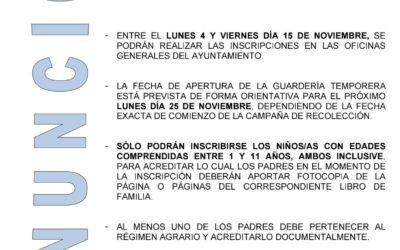Guardería temporera 2019