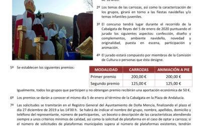 Bases del concurso de carrozas de la cabalgata de Reyes Magos 2020