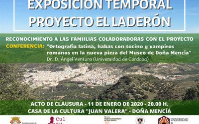 Clausura exposición temporal proyecto El Laderón