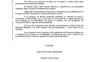Comunicado Alcaldía