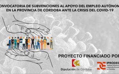 CONVOCATORIA DE SUBVENCIONES AL APOYO DEL EMPLEO AUTÓNOMO EN LA PROVINCIA DE CÓRDOBA ANTE LA CRISIS DEL COVID-19
