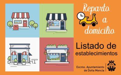 Listado de Establecimientos con reparto a domicilio en Doña Mencía