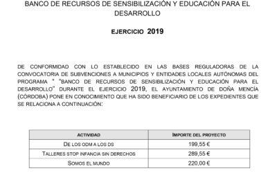BANCO DE RECURSOS DE SENSIBILIZACIÓN Y EDUCACIÓN PARA EL DESARROLLO