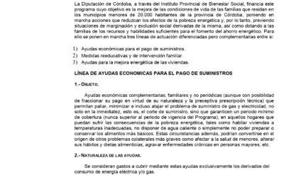 PROGRAMA DE INTERVENCIÓN FAMILIAR EN SITUACIONES DE POBREZA ENERGÉTICA