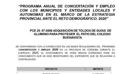 ADQUISICIÓN DE TOLDOS DE GUÍAS DE ALUMINIO PARA PROTEGER EL PATIO DEL COLEGIO BUENAVISTA