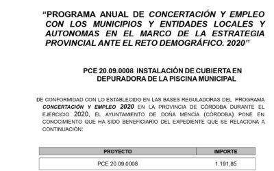 INSTALACIÓN DE CUBIERTA EN DEPURADORA DE LA PISCINA MUNICIPAL