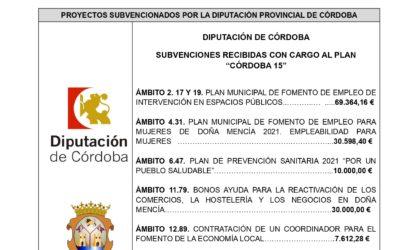 """Plan Provincial deAsistencia a Municipios y Entidades Locales Autónomas de la Provincia de Córdoba para actuaciones locales en el marco de la Agenda Urbana y Rural Española. PLAN """"CÓRDOBA- 15"""". (Ejercicio 2021)"""